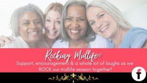 Rocking Midlife Community for Women over 40. Join here https://www.facebook.com/groups/RockingMidlife